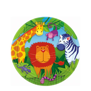 Jungle Animals 9 Inch Plates- 8ct