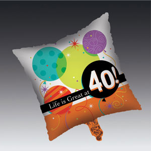 Life is Great at 40 Balloon - Metallic