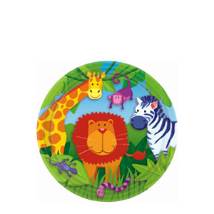 Jungle Animals 7 Inch Plates- 8ct
