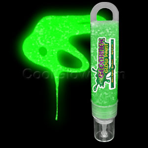Glominex Glitter Glow Paint 1 oz Tube - Green