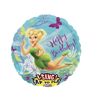 Tinkerbell Birthday Singing Balloon- 28 Inch