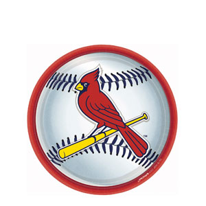 St. Louis Cardinals 9 Inch Plates- 18ct