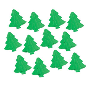 Metallic Christmas Trees - 12ct
