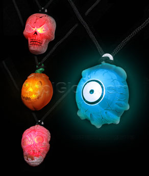 LED Halloween Necklaces - Assorted