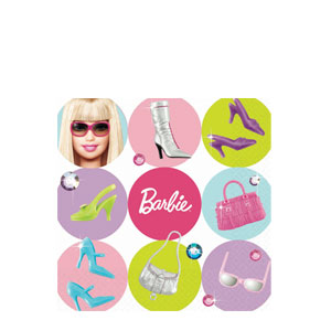 Barbie Beverage Napkins- 16ct