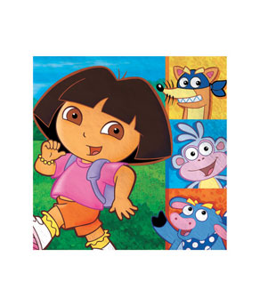 Dora Luncheon Napkins- 16ct
