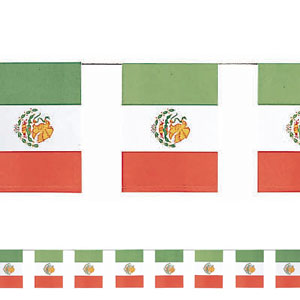 Mexican Flag Paper Banner- 8ft