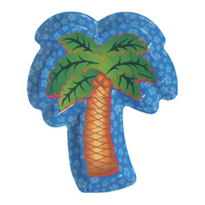 Palm Tree 12 Inch Tray