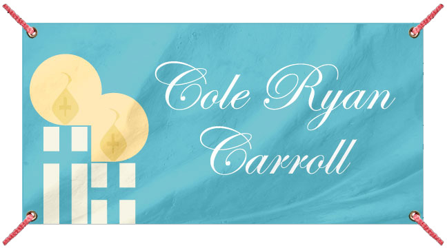 Blue Candles - Custom Banner