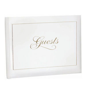 Guest Book - White & Gold