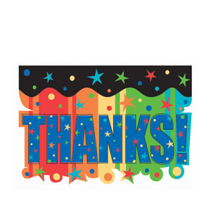 A Year To Celebrate Thank You Cards- 8ct