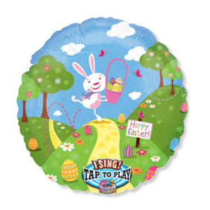 Bunny Trail Singing Balloon - 28 Inch