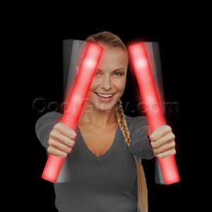 Fun Central G30 LED Light Up Foam Stick Baton Supreme - Red