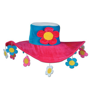 Plush Flower Power Hat - Full Size