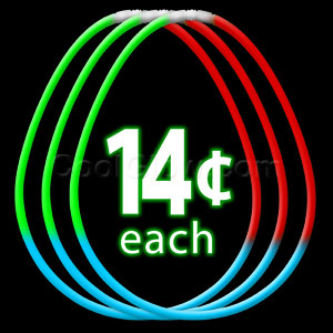22 Inch Glow Necklaces Red-Green-Blue