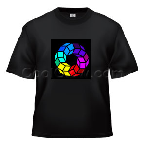 LED Sound Activated T-Shirt - Spinning Gear