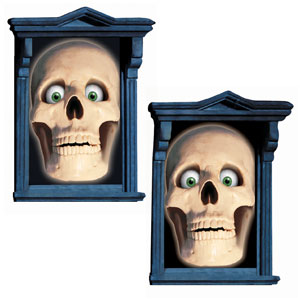 Glow Skull Window Magic Decorations- 2ct