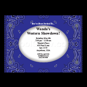 Blue Bandana - Custom Invitations