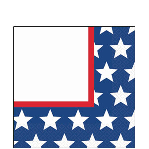 Red White  Blue Stars Luncheon Napkins - 36ct