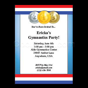 Go for the Gold - Custom Invitations