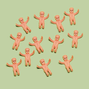 Tiny Baby Shower Favor Charms