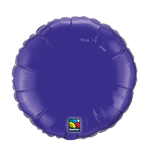 18 Inch Round Metallic Balloon- Quartz Purple