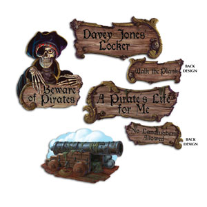 Pirate Cutouts - 4ct