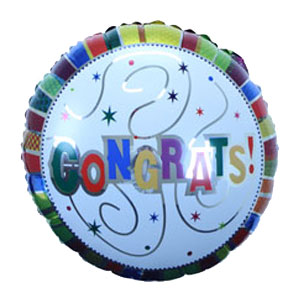 Congrats 18 Inch Metallic Balloon