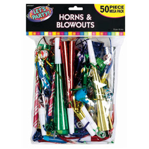 Horns  Blowouts Mega Pack- Multicolor 50ct