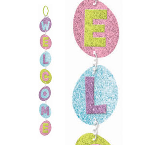Easter Welcome Glitter Sign