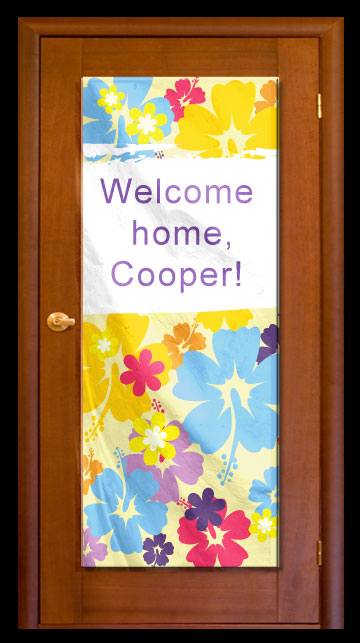 Hibiscus Flowers - Custom Door Banner