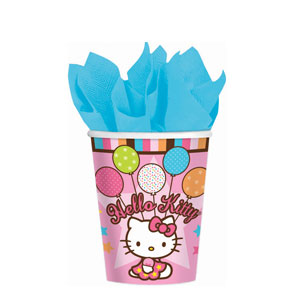 Hello Kitty Balloon Dreams 9 oz. Cups- 8ct