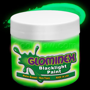 Glominex Blacklight UV Reactive Paint Pint - Green