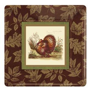 Thanksgiving Sophistication 10 Inch Square Plates- 8ct