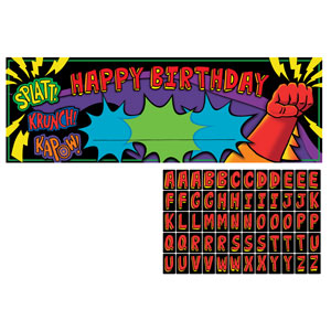 Superhero Fun Party Banner - Giant