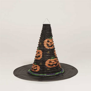 With Hat Shaped Paper Lantern- 12in