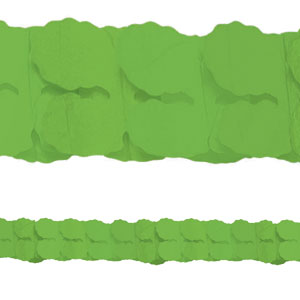 Green Paper Garlands- 12ft