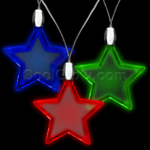 LED Star Pendant Necklaces - Assorted