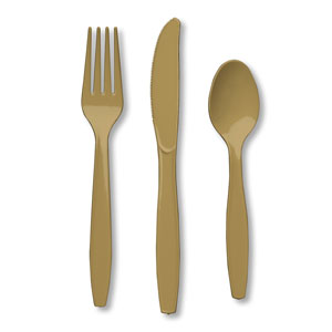 Gold Assorted Cutlery- 24ct