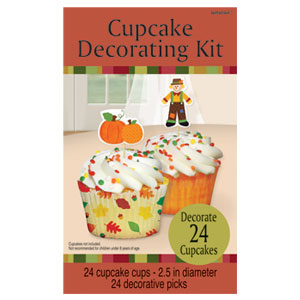 Fall Cupcake Decorating Kit- 48ct