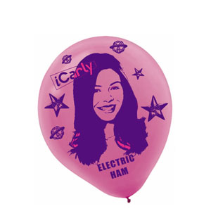 iCarly Printed Latex Balloons- 6ct