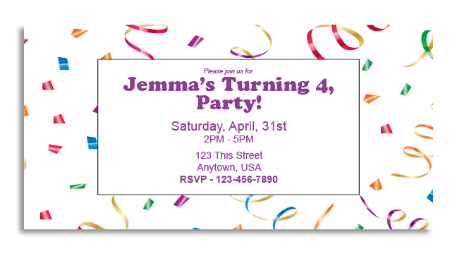 Colorful Celebration - Custom Invitation