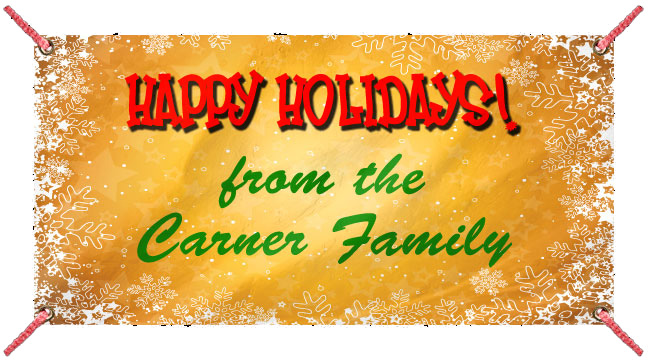 Golden Snow 'Happy Holidays' - Custom Banner