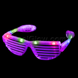 LED Stunner Shutter Slotted Shades - Purple