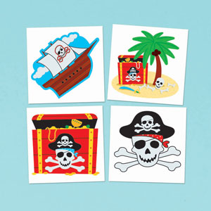 Pirate Tattoo Favors