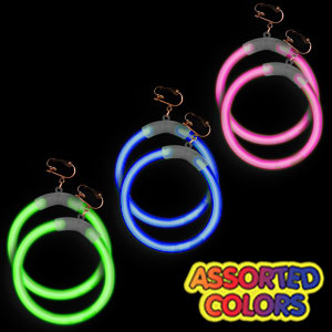 Fun Central G712 Glow in the Dark Earrings - Assorted