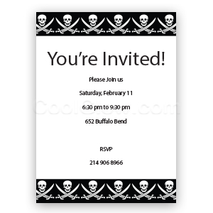Jolly Roger - Custom Invitations