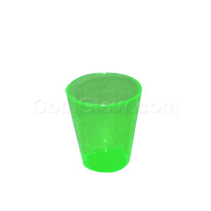 Neon Green 2 Ounce Shot Glasses - 50 count