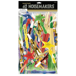Colorful New Years Noisemakers Value Pack- 40ct