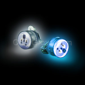 LED Clip On Blinky Light - Blue & White